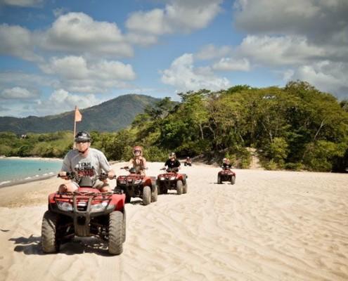 ATV tour on the beach