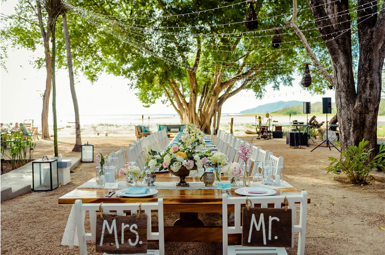 Tamarindo destination wedding at Pangas