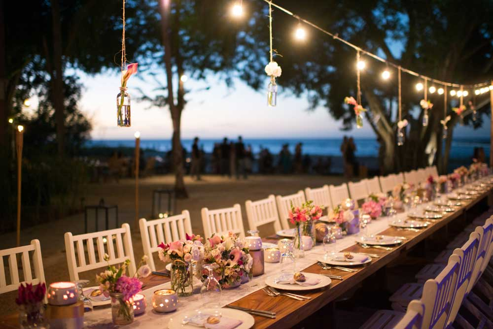 Table Setting for an Event in Tamarindo