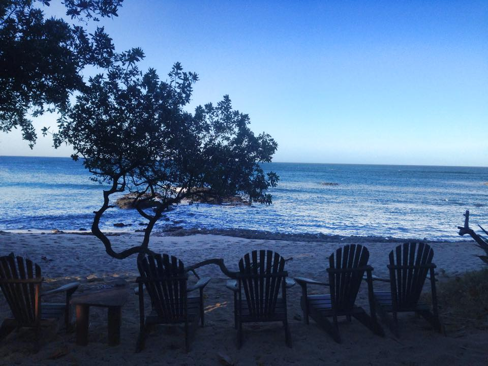 beach chairs near Tamarindo
