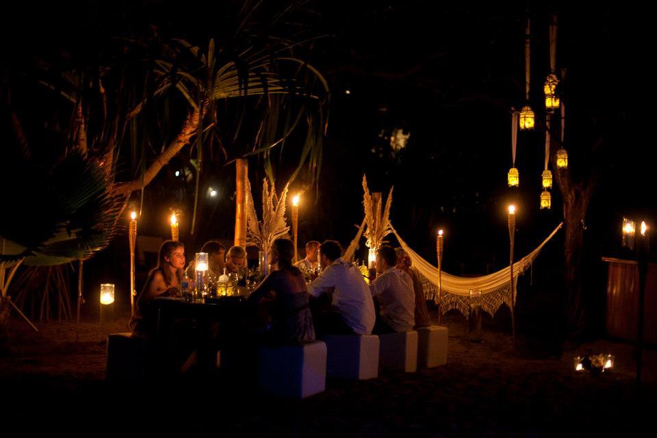 Costa Rican destination wedding tent