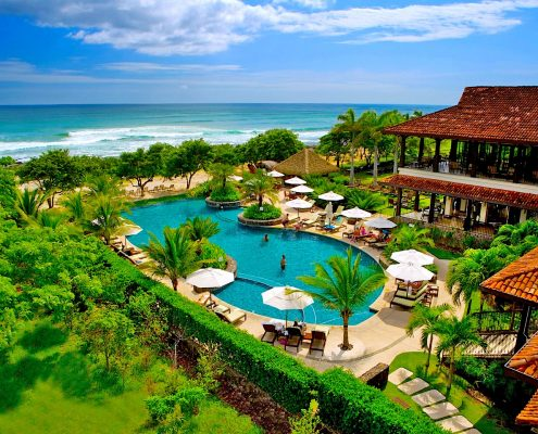 Hacienda Pinilla travel guide - Beach Club aerial view