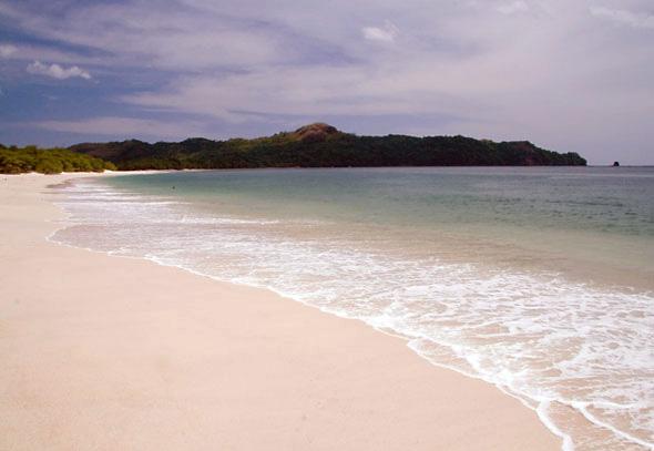 pink sands of Playa Conchal