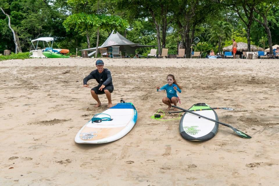 surfing in Tamarindo with kids