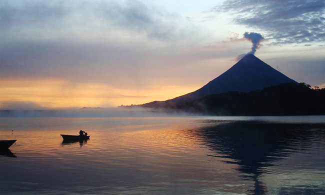 sunset at Lake Arenal