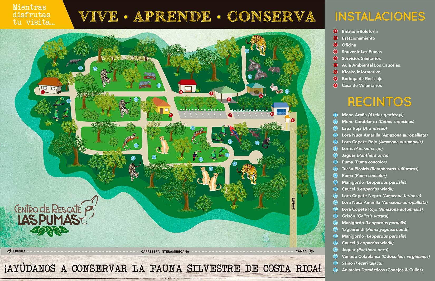Las Pumas Rescue Center map-min