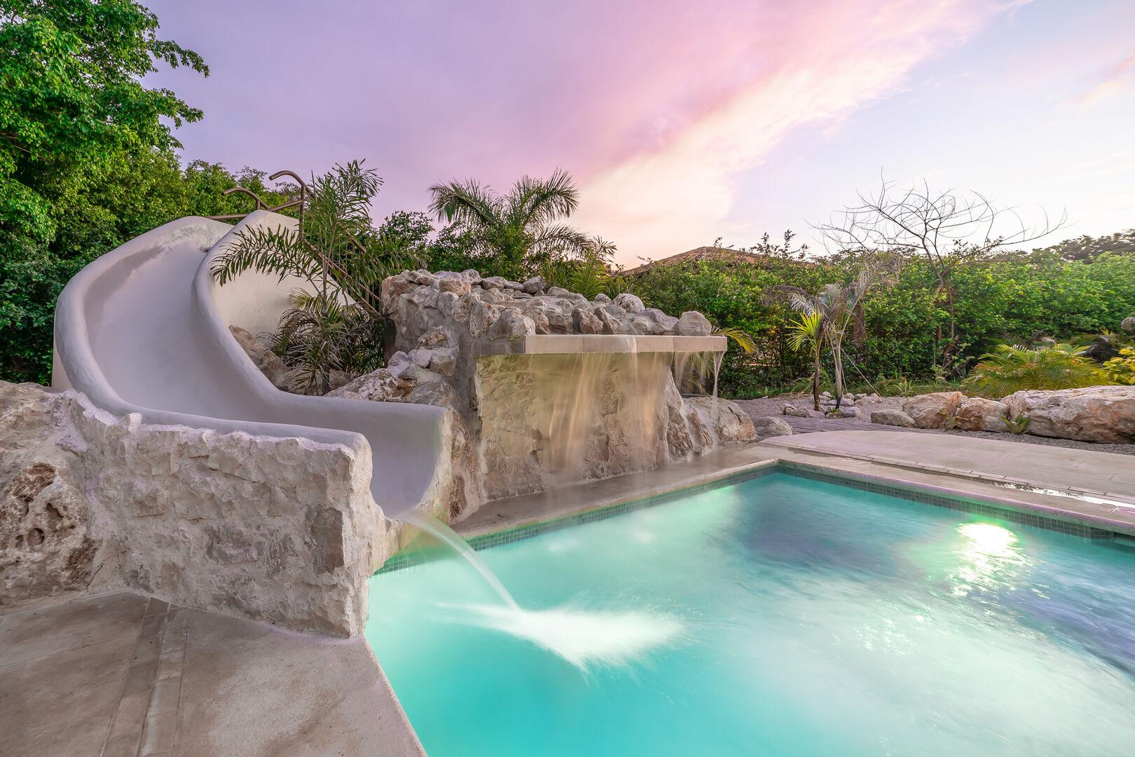 Casa Bonita Beach Hacienda Pinilla vacation rental waterslide-min